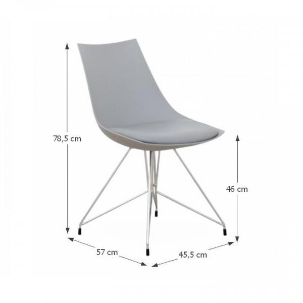 Chrome modern szék