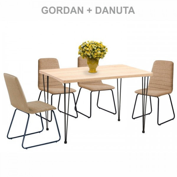 Gordan étkezőasztal