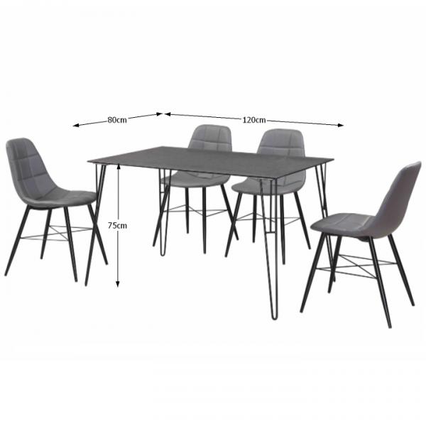 Oberon modern étkezőasztal