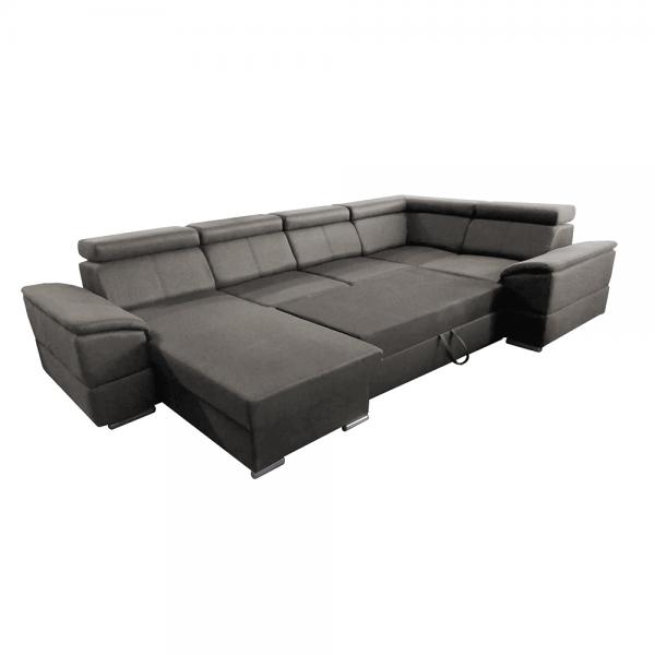 Segoria sötétszürke u alakú kanapé