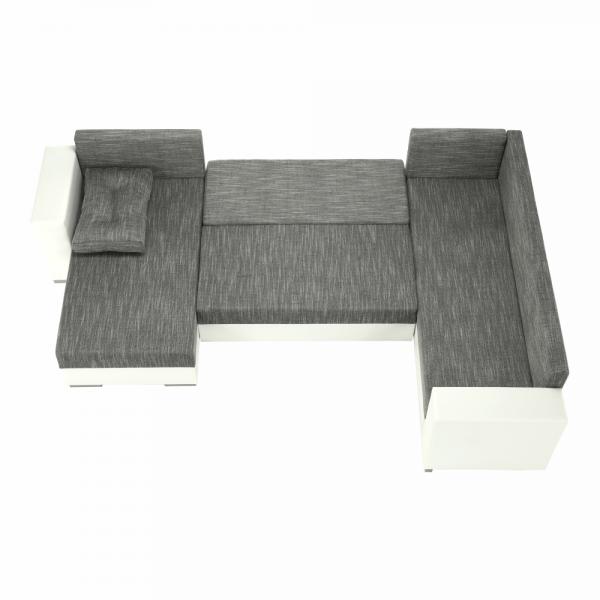 Stila fehér szürkésbarna u alakú kanapé