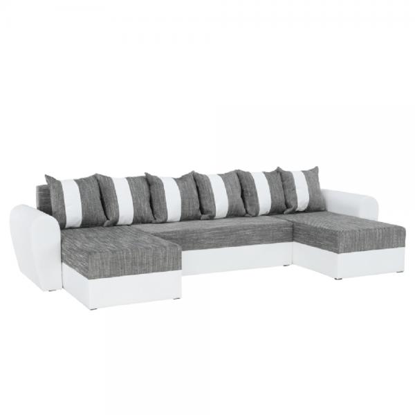 Tiger fehér szürke u alakú kanapé