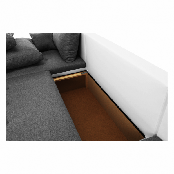 Trendy fehér szürke u alakú kanapé