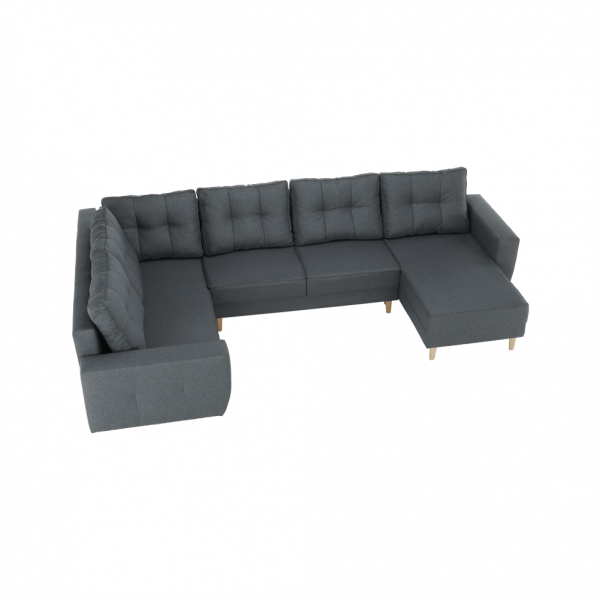 Vincent sötétszürke u alakú kanapé